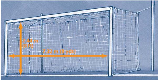 اندازه دروازه فوتبال چمنی بزرگسالان