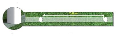 اندازه طول دروازه فوتبال