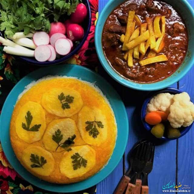 5 طرز تهیه ته دیگ سیب زمینی برنج و ماکارونی، ته دیگ ماستی، کاهو، طرحدار و ...
