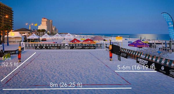 زمین والیبال ساحلی
