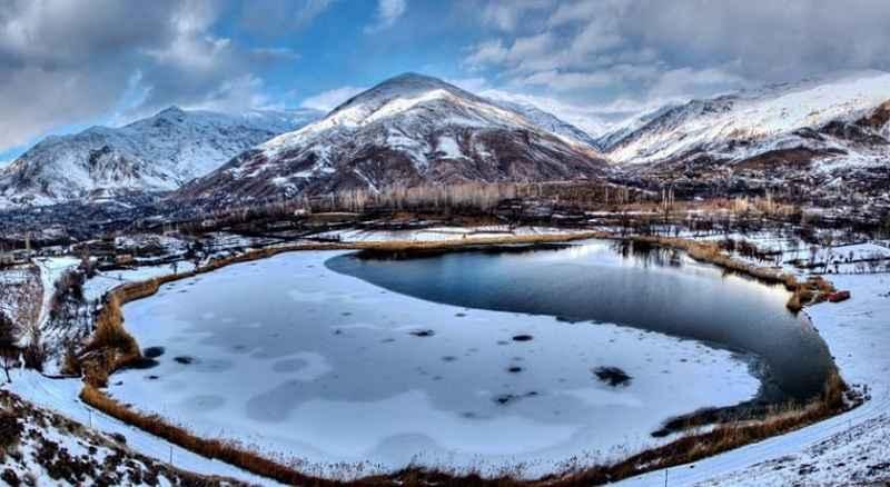 دریاچه اوان الموت شهرستان قزوین
