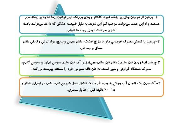 تغذیه صحیح و اصولی در ماه رمضان, اصل 8/پیشگیری از یبوست