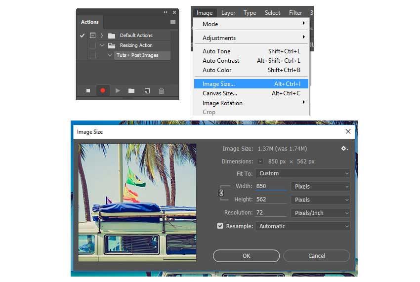 آموزش تغییر اندازه دسته جمعی تصاویر در نرم افزار فتوشاپ