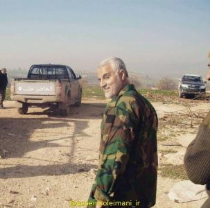 سردار قاسم سلیمانی در سوریه / جنوب حلب / شهرک الحاضر