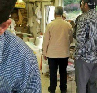 حاج قاسم سلیمانی در صف نانوایی