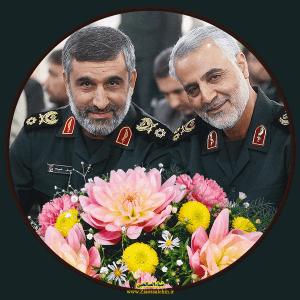 عکس پروفایل سردار حاجی زاده و شهید سلیمانی