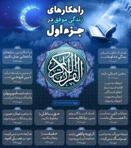 اینفوگرافیک راهکارهای زندگی موفق در قرآن کریم - جزء اول