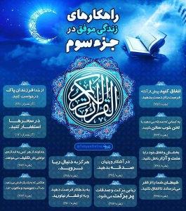 اینفوگرافیک راهکارهای زندگی موفق در قرآن کریم - جزء 3