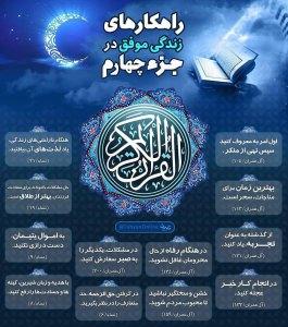 اینفوگرافیک راهکارهای زندگی موفق در قرآن کریم - جزء 4