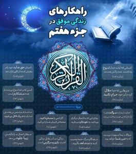 اینفوگرافیک راهکارهای زندگی موفق در قرآن کریم - جزء 7