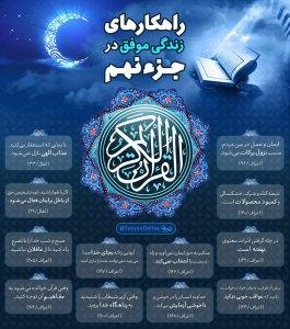 اینفوگرافیک راهکارهای زندگی موفق در قرآن کریم - جزء 9