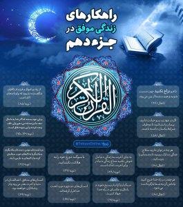 اینفوگرافیک راهکارهای زندگی موفق در قرآن کریم - جزء 10