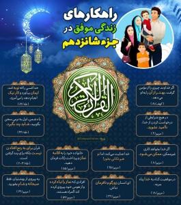 اینفوگرافیک راهکارهای زندگی موفق در قرآن کریم - جزء 16