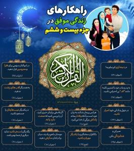 اینفوگرافیک راهکارهای زندگی موفق در قرآن کریم - جزء 26