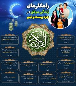اینفوگرافیک راهکارهای زندگی موفق در قرآن کریم - جزء 29