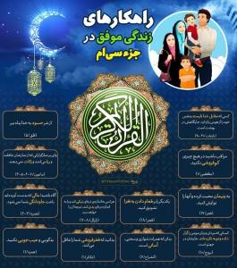 اینفوگرافیک راهکارهای زندگی موفق در قرآن کریم - جزء 30