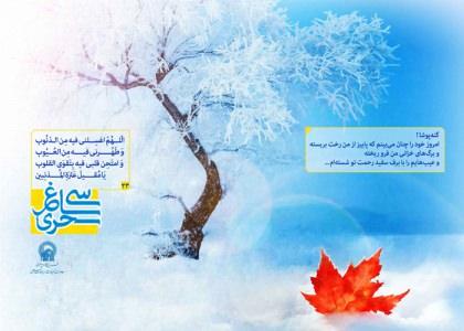 پوستر دعای روز بیست و سوم ماه رمضان/ سی ساغر سحری 23