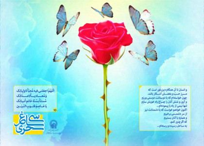 پوستر دعای روز بیست و پنجم ماه رمضان/ سی ساغر سحری 25