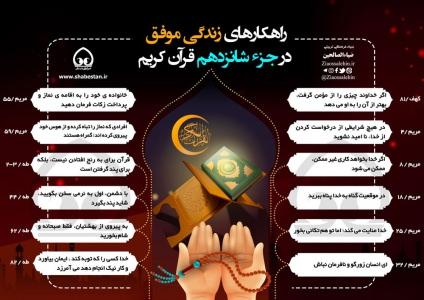 اینفوگرافیک راهکارهای زندگی موفق در جزء 16 قرآن/ به تفکیک سوره