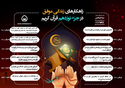اینفوگرافیک راهکارهای زندگی موفق در جزء 19 قرآن/ به تفکیک سوره