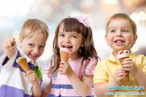 بستنی برای کودکان