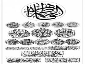 تایپوگرافی های ایام فاطمیهعلیها السلام