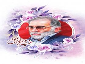 نقاشی چهره شهید محسن فخری زاده