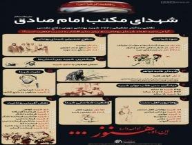 اینفوگرافیک   شهدای مکتب امام صادق علیه السلام